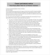 cease and desist letter australia template zubora me