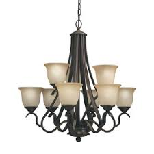 Bronze Chandelier With Shades Shop Chandeliers At Lowes Com