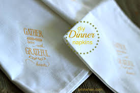 how to make fall dinner linen napkins pinkwhen