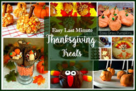 how to make easy last minute thanksgiving treats walking on