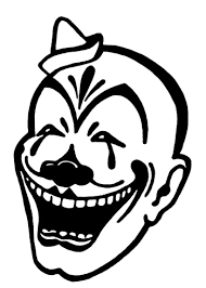 outline evil clown tattoo design clip art library