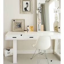 writing desk with drawers contemporary writing desk with 4 drawers in white woood cuckooland