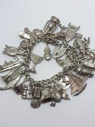 solid silver bracelet charms images Rare very vintage solid silver charm bracelet with 32 rare jpg