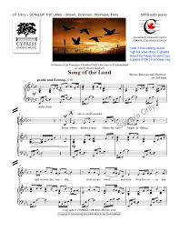 song of the land satb by jeff enns j w pepper sheet