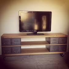Meuble Normand Ancien Meuble Tv Style Industriel Avec Ancien Tiroirs Et Plateaux En