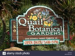 San Diego Botanical Garden Foundation Entrance Sign San Diego Botanic Garden California Stock Photo