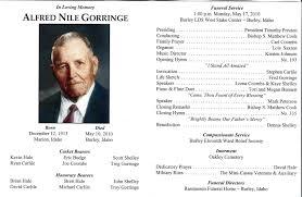 memorial service programs templates free memorial service programs sle lds burial and mormon funeral