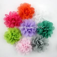 flowers for hair new arrival hair accessories chiffon flowers for hair band 18 colors