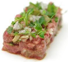 tartare cuisine filet beef tartare in sake recipe centre