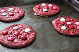 red velvet m u0026m cookies the crazy mom cook