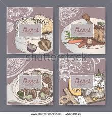 cuisiner un coq au four set four cuisine templates stock vector 451839145
