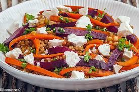 cuisiner le petit eautre recette de salade de petit épeautre aux carottes betterave et fêta
