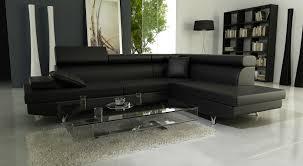 canapé d angle noir simili cuir delorm importateur grossiste et dropshipping pour la maison