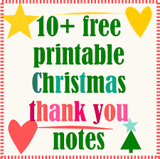 christmas thank you cards 10 free printable christmas thank you notes ausdruckbare