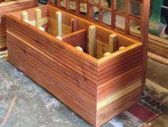 Redwood Planter Boxes by Tall Modern Redwood Planter Boxes Free Shipping 10 50 Gallon