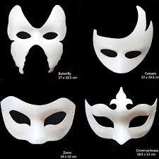 unpainted masks aliexpress buy unpainted white paper various for kid women