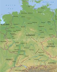Map Of Germany And Austria by Germany Physical Map