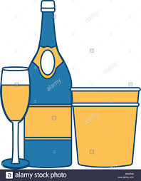champagne bottle cartoon champagne bottle stock vector images alamy