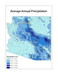 Map Of Arizona State by Temp Precip Arizona State Climate Office