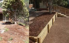 Split Level Garden Ideas Superb How To Level A Sloped Backyard Part 3 Build L
