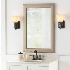 bathroom wall mirrors brushed nickel home