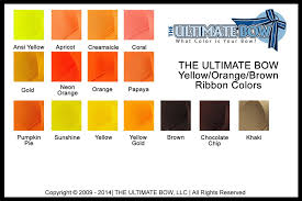 ribbon color color charts cheer bow colors