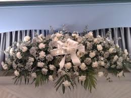 casket sprays silver and white casket spray funeral flowers in wilmington