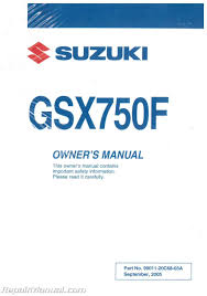 2006 suzuki katana gsx750f motorcycle owners manual