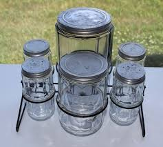 vintage glass canisters kitchen 12 best antique spice jars for hoosier cabinets images on