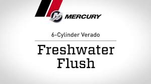 mercury verado maintenance flushing procedure youtube