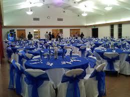 royal blue white wedding decorations