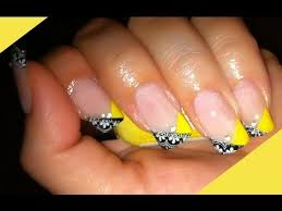 black and yellow nails youtube