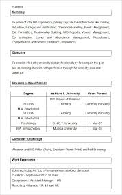 Entry Level Hr Resume Examples by 40 Hr Resume Cv Templates Hr Templates Free U0026 Premium