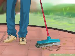 How To Clean A Concrete Patio by 3 Ways To Clean A Cement Patio Wikihow
