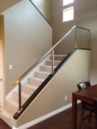 brushed stainless steel railing contemporary staircase san diy