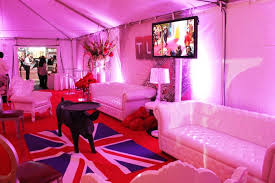 Purple Union Jack Rug Tlc U0027s Party Also Had A V I P Tent That Was Decked Out With