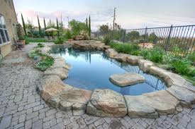 pool beautiful backyard pools design featuring natural stone