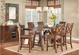 counter height dining room sets picture of mango burnished walnut 5 pc counter height dining room