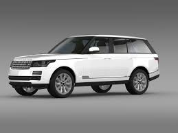 land rover vogue 2015 3d model range rover vogue tdv6 l405 cgtrader