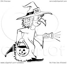halloween free clipart cartoon of a black and white halloween trick or treater in a