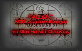 fallout new vegas halloween costume fallout new vegas ncr veteran ranger 1st gen costume helmet