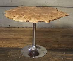 free form modern burl big leaf maple wood u0026 aluminum tulip table