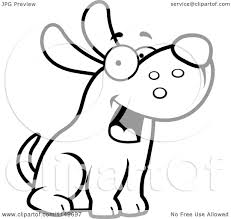 cartoon clipart of a black and white friendly max dog character