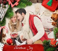 joyful photo frame for online christmas greetings