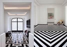 black and white marble tile floor and black and white marble