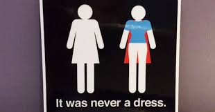 Man Woman Bathroom Symbol It Was Never A Dress This Campaign Will Change The Way You See