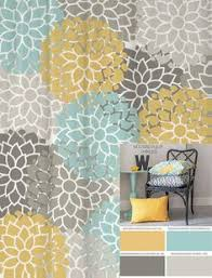 Yellow And Blue Curtains Shower Curtain In Yellow Blue Gray Floral Standard And