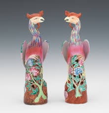 a pair of porcelain ho ho bird figurines 10 20 11 sold 149 5
