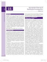 appropriate ordering of radiological investigations