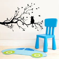 popular cat wall sticker tree vinyl buy cheap cat wall sticker tree branch and cat wall stickers removable vinyl art decal mural diy home decor china